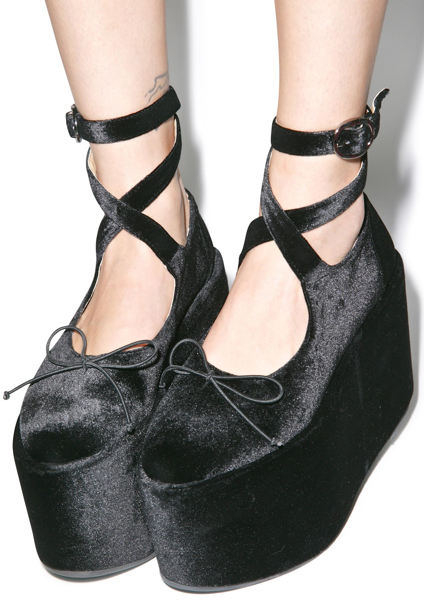 Sugar Thrillz Ballet Bopper Noir Platforms