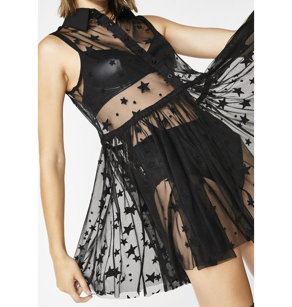 Sugar Thrillz Belle Of The Starz Sheer Dress