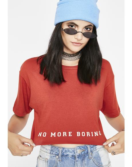No More Cropped Tee