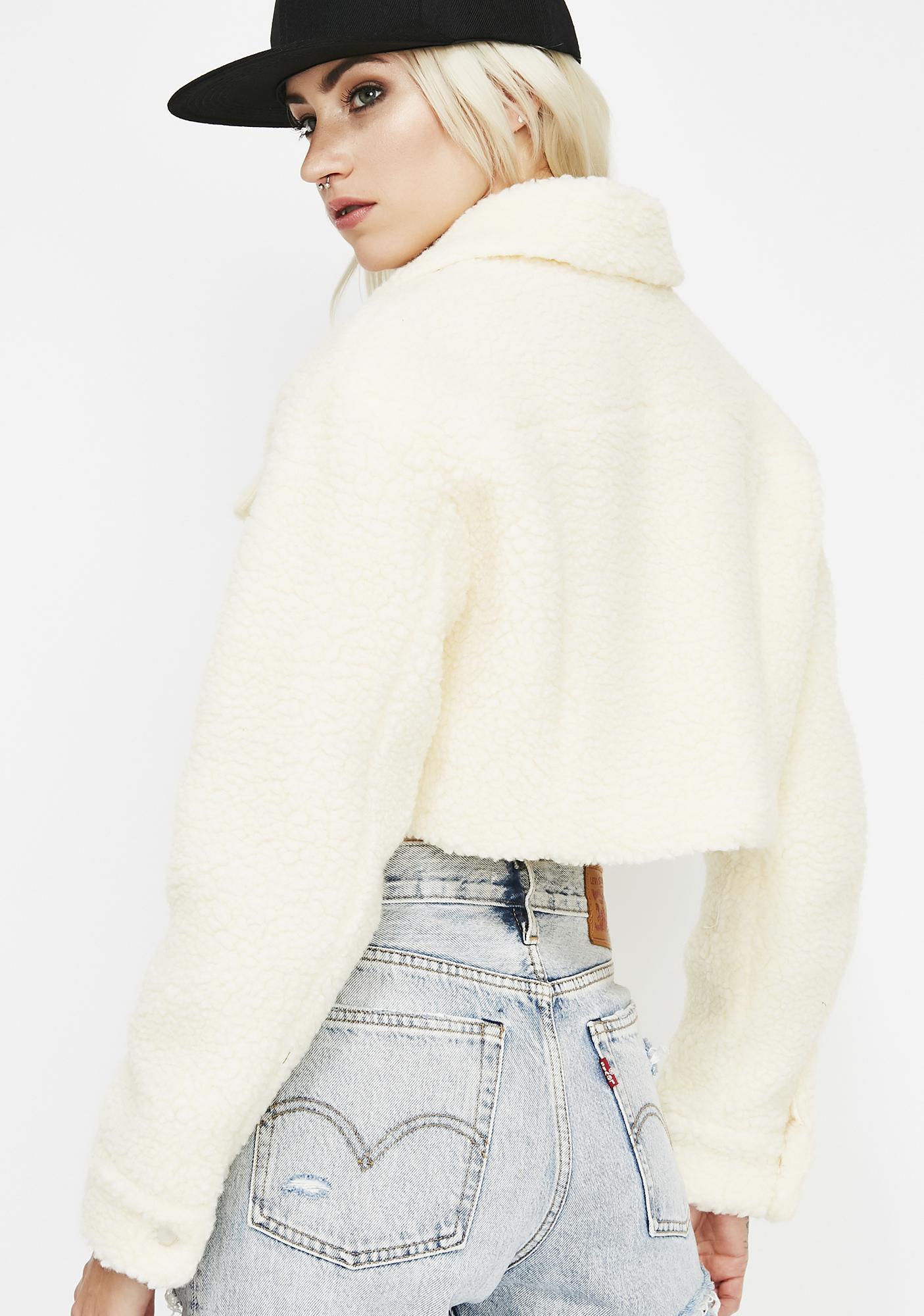 Bitter Cold Crop Fuzzy Jacket