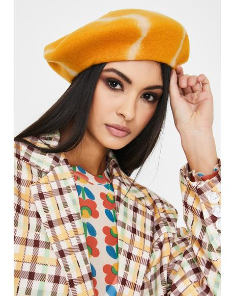 Sunshine Day Tie Dye Beret
