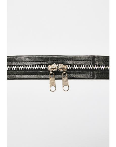 Case Closed Zipper Choker