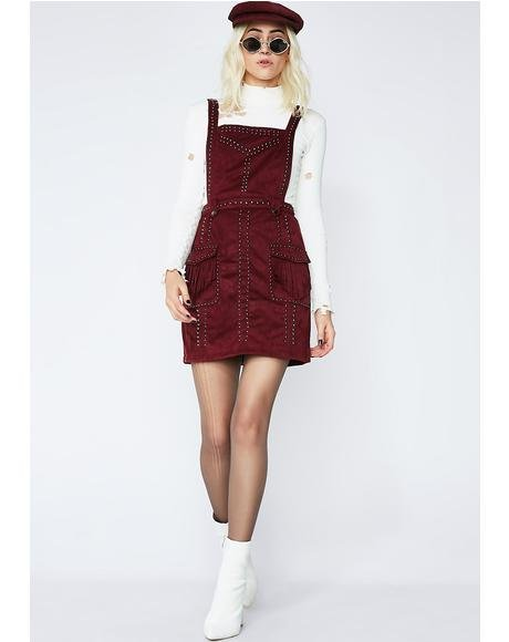 You Wish Studded Pinafore Dress