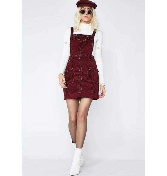 Glamorous You Wish Studded Pinafore Dress