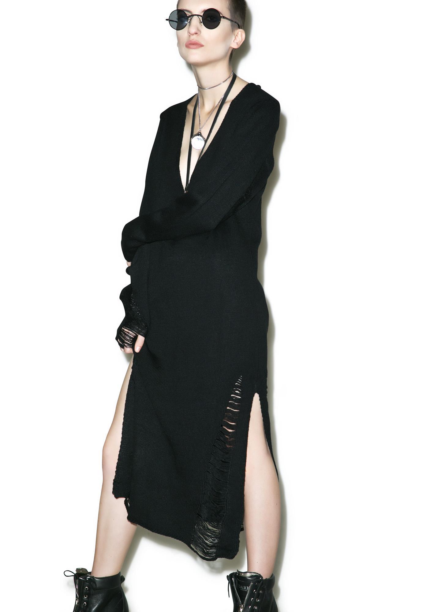 Nocturnal Destroyed Knit Dress
