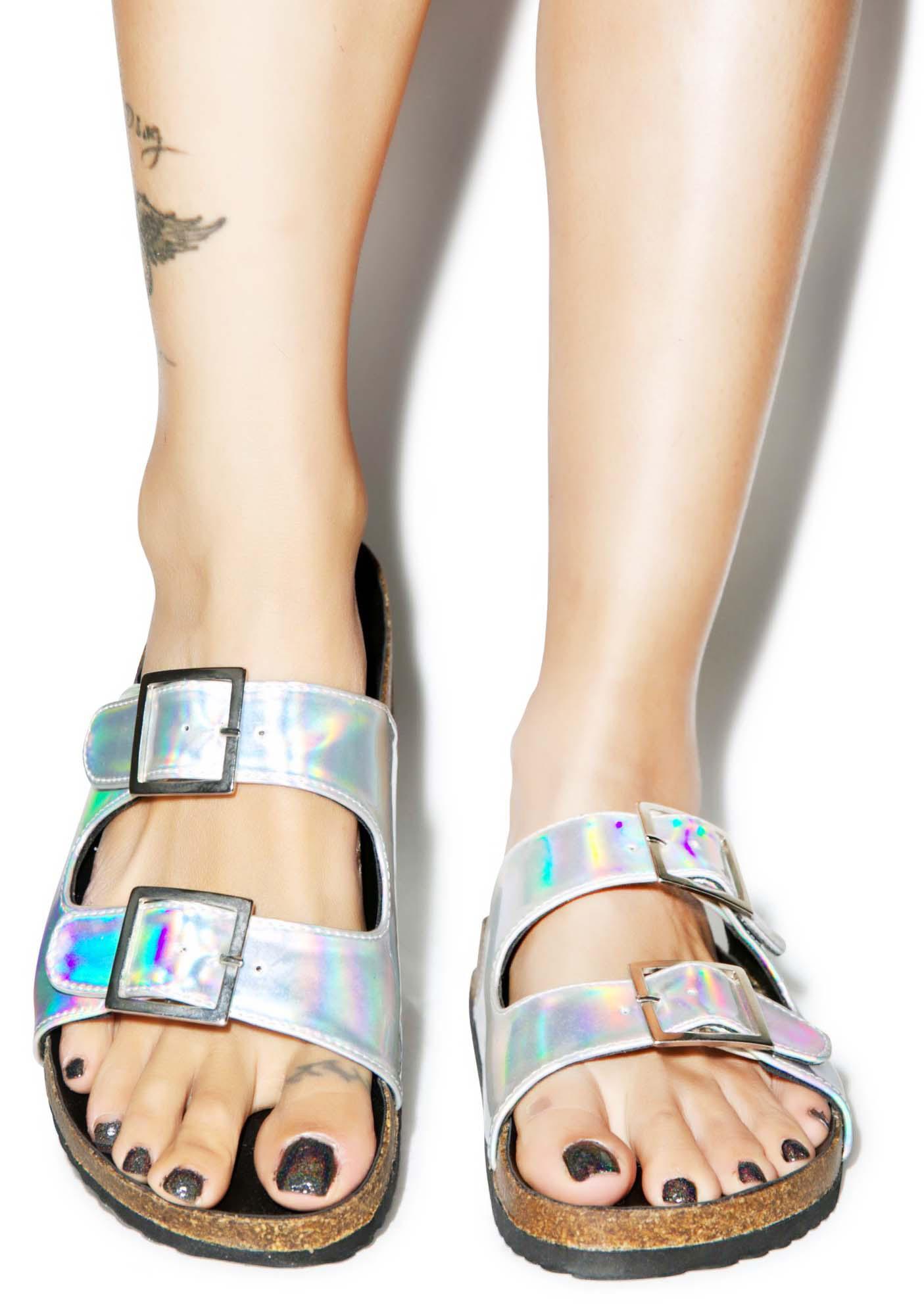 O Mighty Hella Hologram Sandals