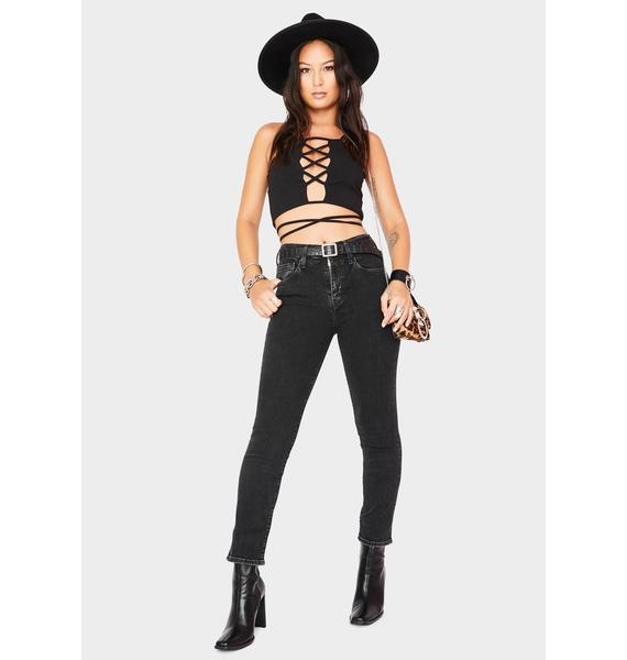 Levis 724 High Rise Straight Crop Jeans
