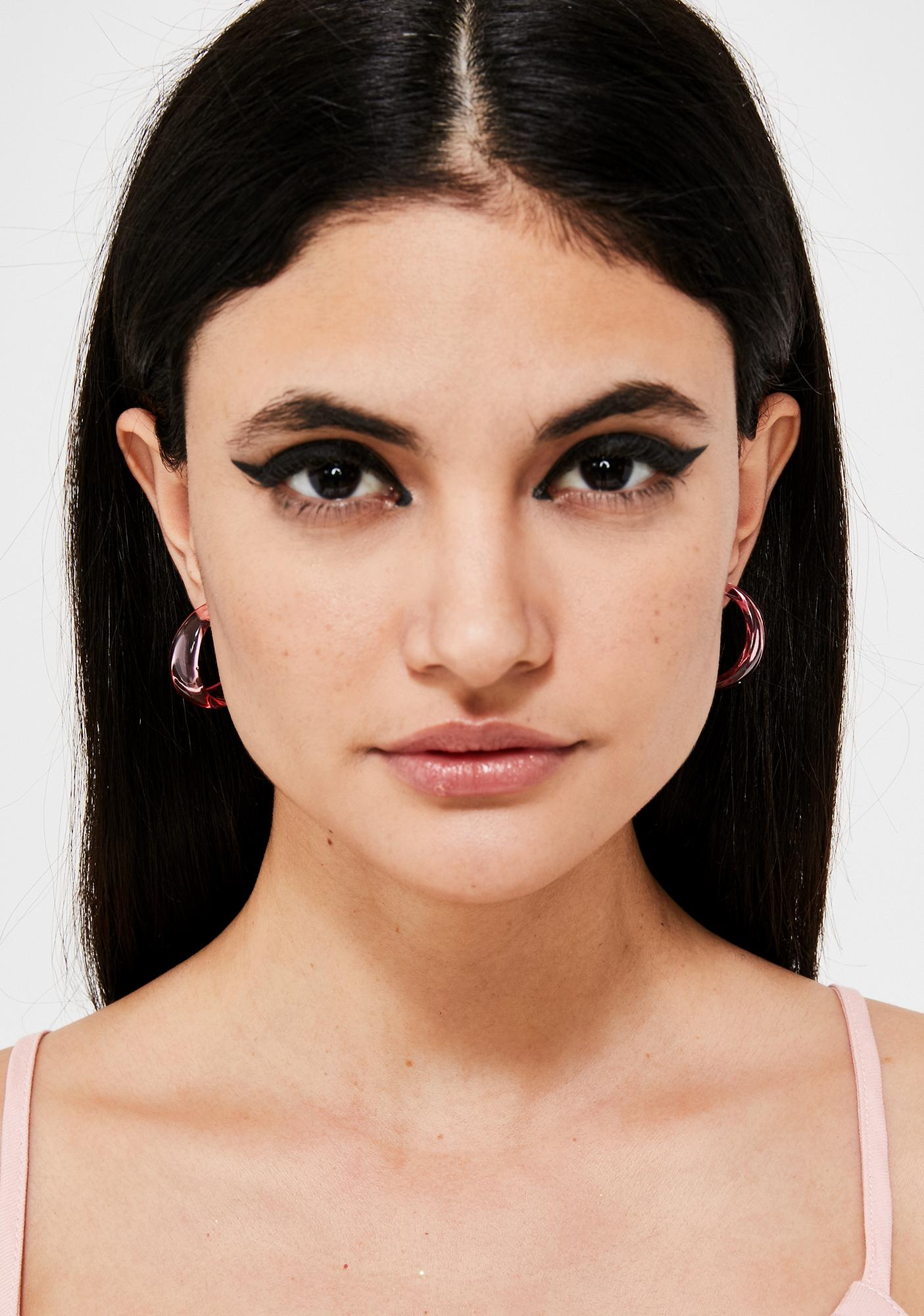 Clearly Into You Hoop Earrings