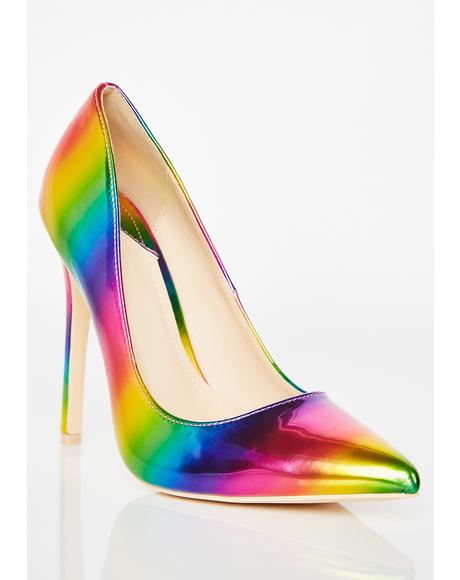 House Of Luv Rainbow Pumps