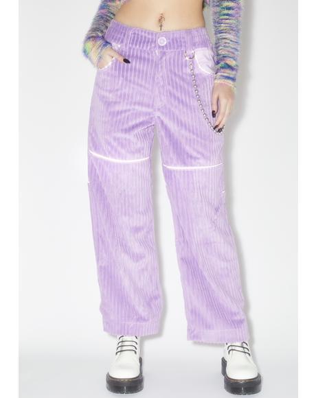 Lilac Corduroy Pants V.2