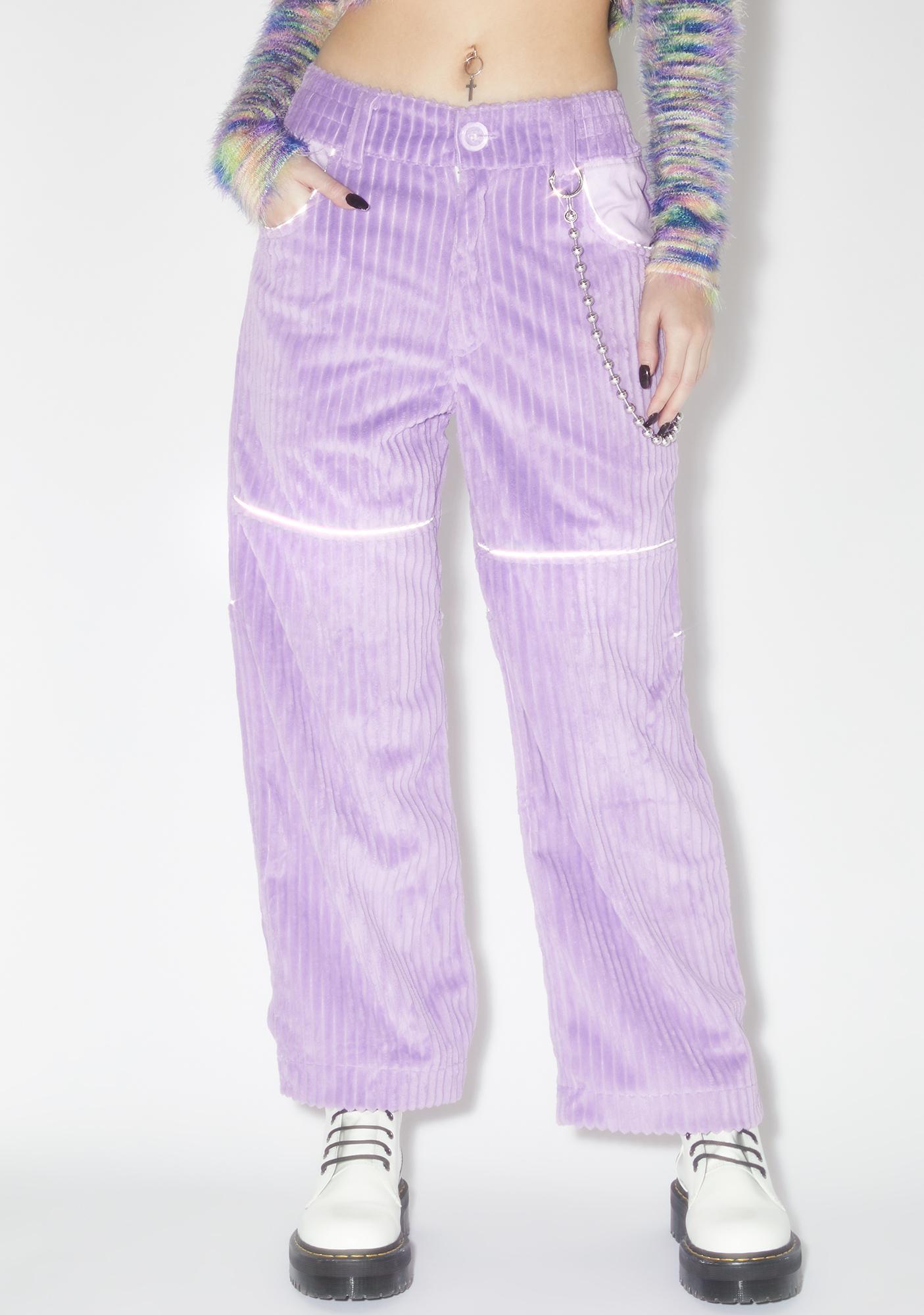 Somewhere Nowhere Lilac Corduroy Pants V.2