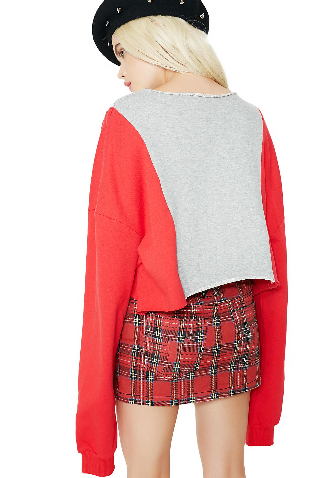 In The Mix Paneled Sweatshirt