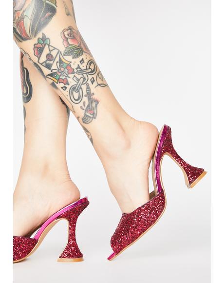 Candy Miss Jetsetter Glitter Heels