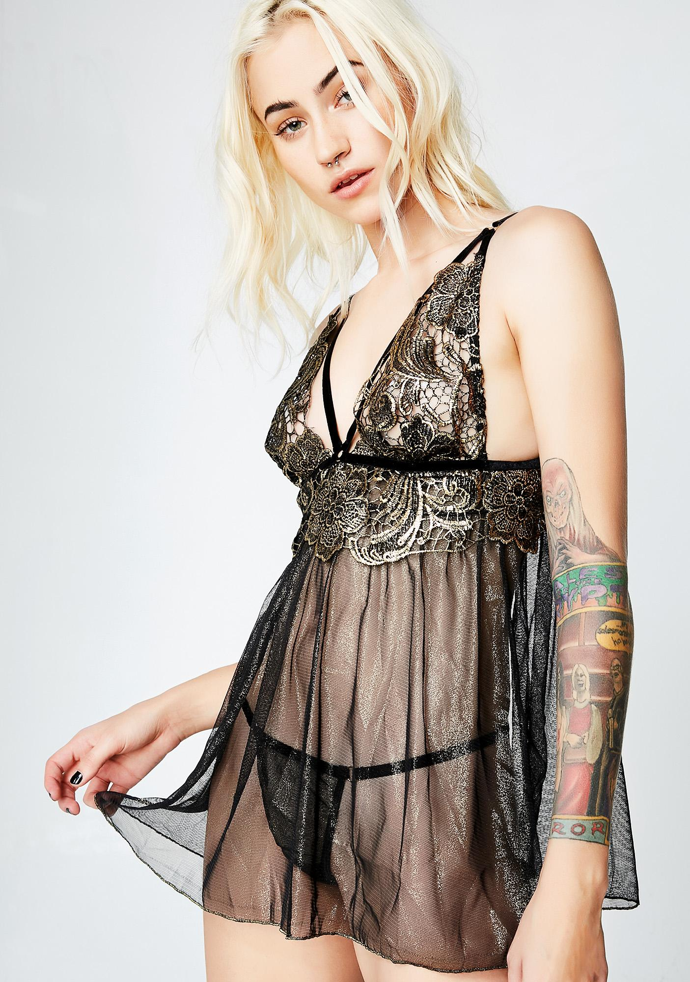 Love Potion Sheer Babydoll Top