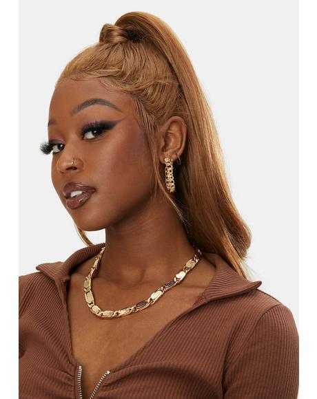 Bad For You Chain Hoop Earrings
