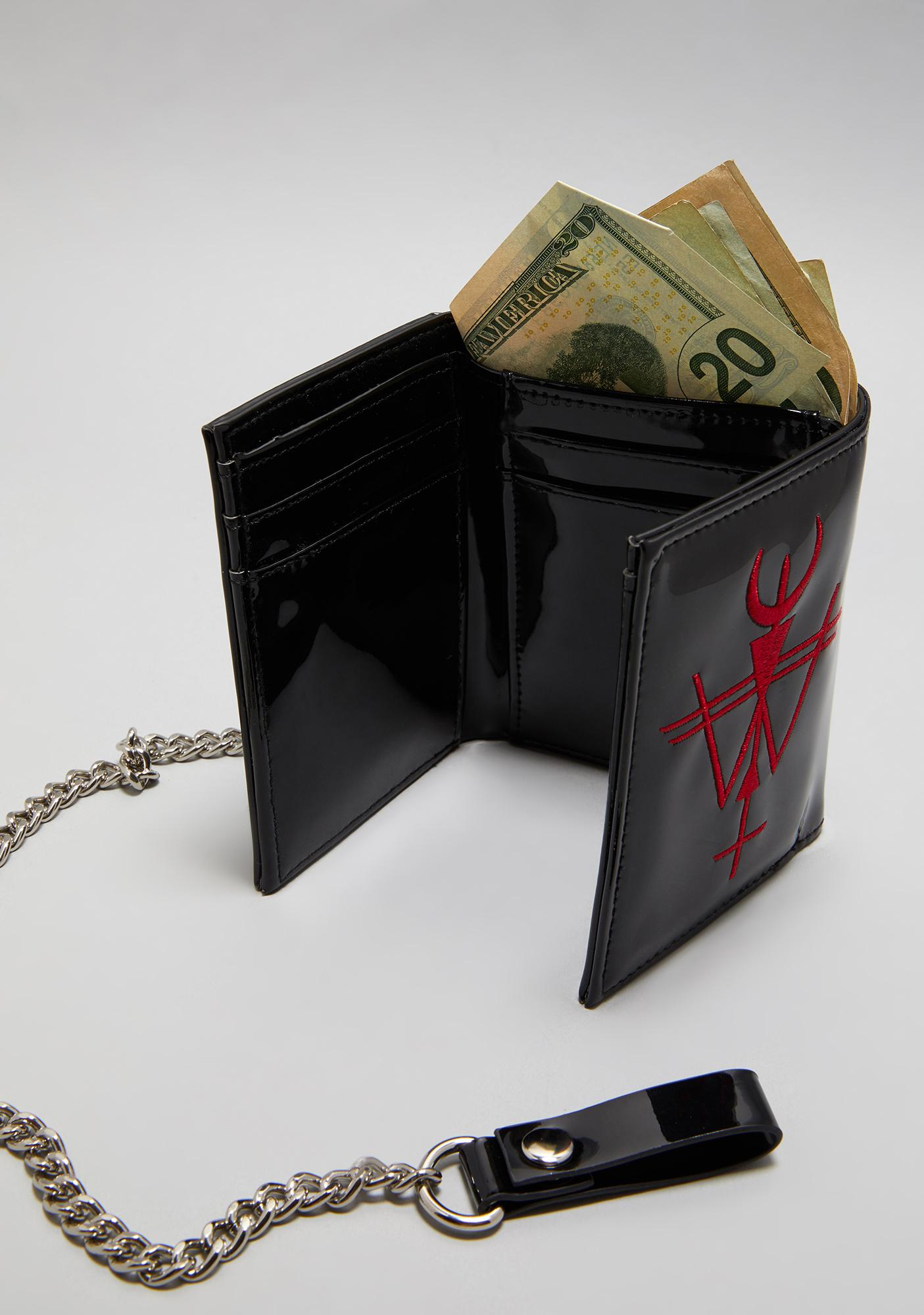 Widow Phantom Funds Patent Wallet With Chain