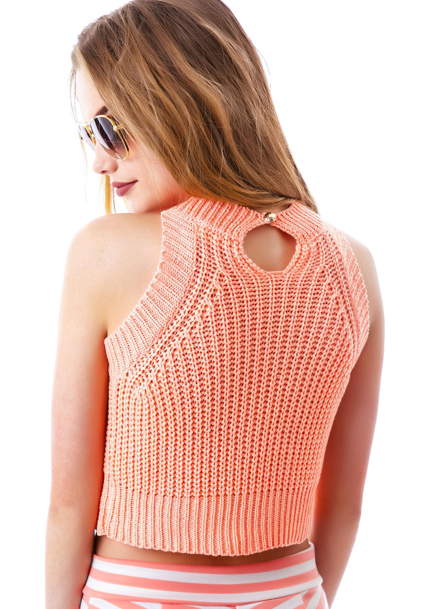Summer Sun Knit Crop Tank