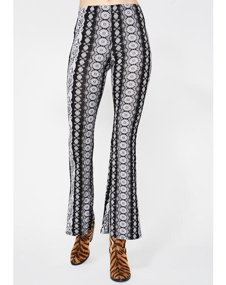 Noir Midnight Haze Printed Pants
