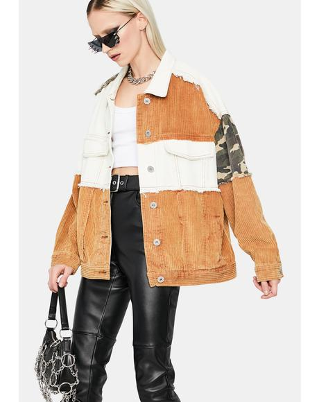 Hidden Rebel Patchwork Jacket