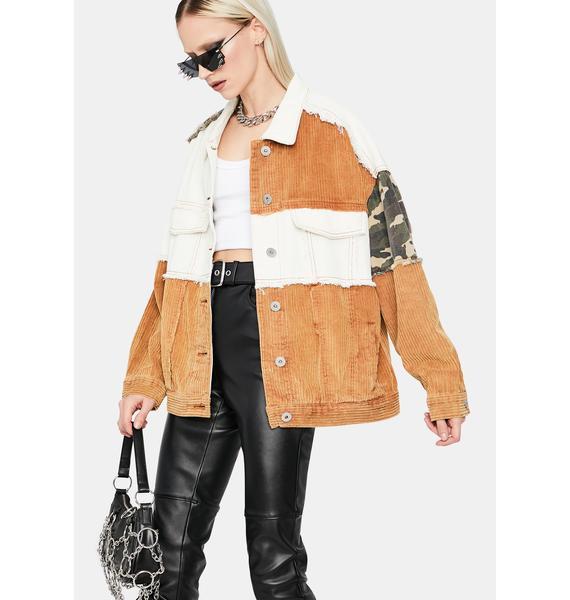 Hidden Rebel Patchwork Jacket