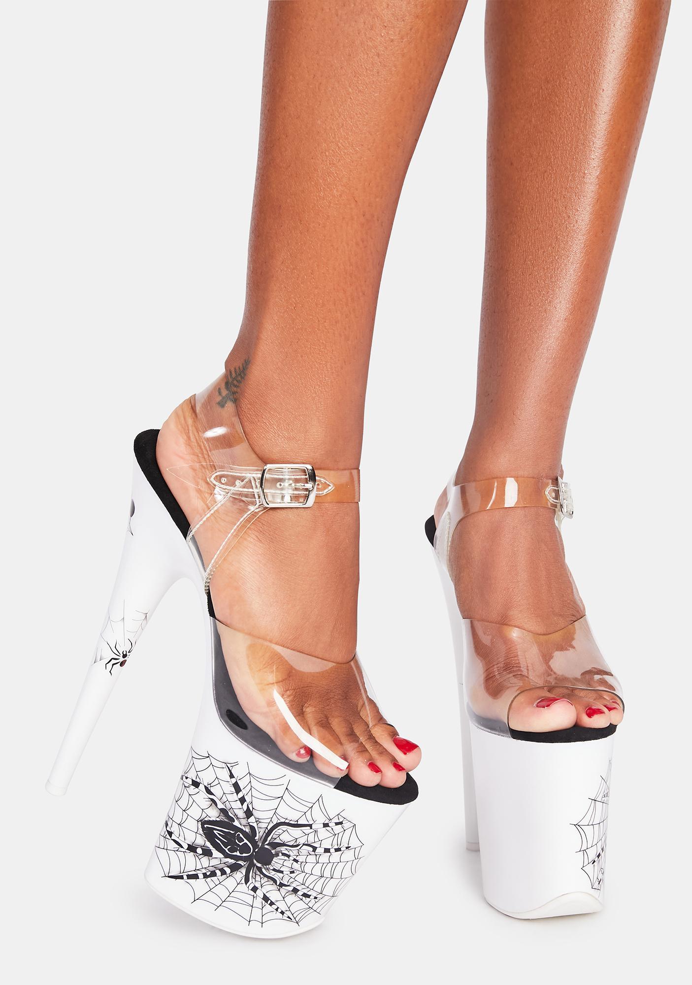 Pleaser Give U A Fright Platform Heels