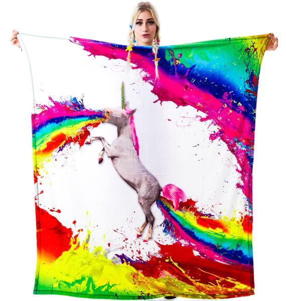 Unicorn Spew Blanket