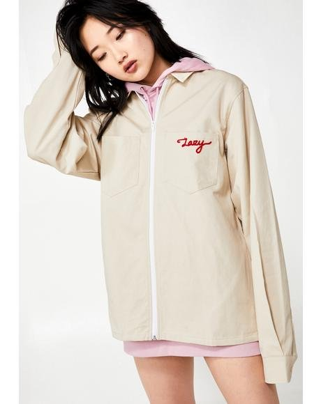 Lazy Holidays Zip Up Shirt Jacket