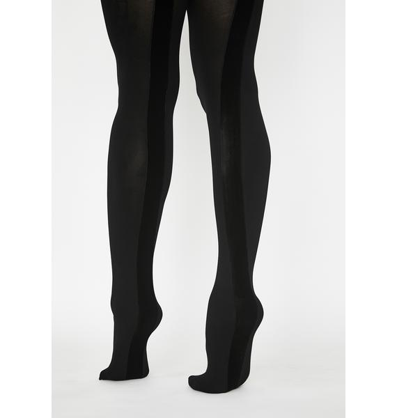 MeMoi Velvet Seam Opaque Tights