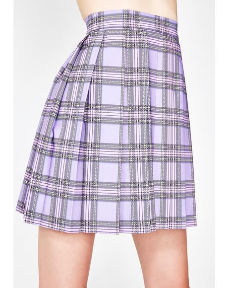 Checky Pleated Skirt