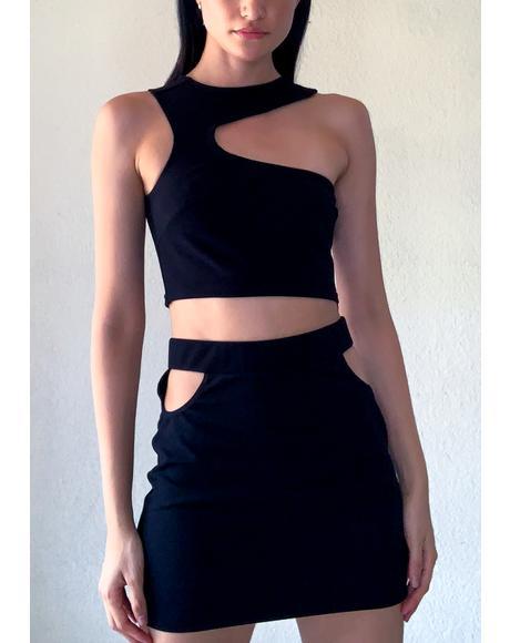 Drop It Low Skirt Set