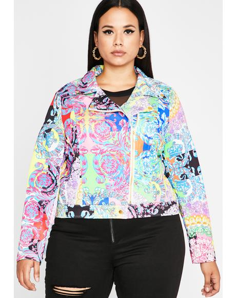 Trippy That Funky Rich Grl Moto Jacket