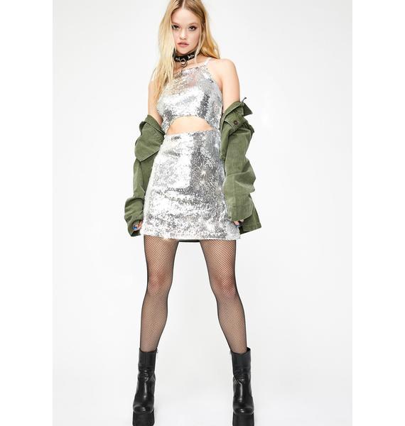 Current Mood Lust For Sparkle Sequin Dress
