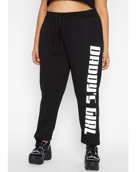 Foreva Daddy's Grl Reflective Joggers