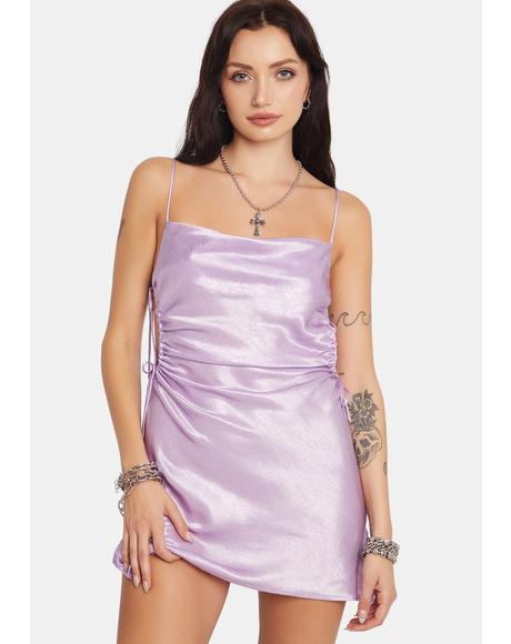 Lilac Fierceness Excluded Side Cut Out Mini Dress