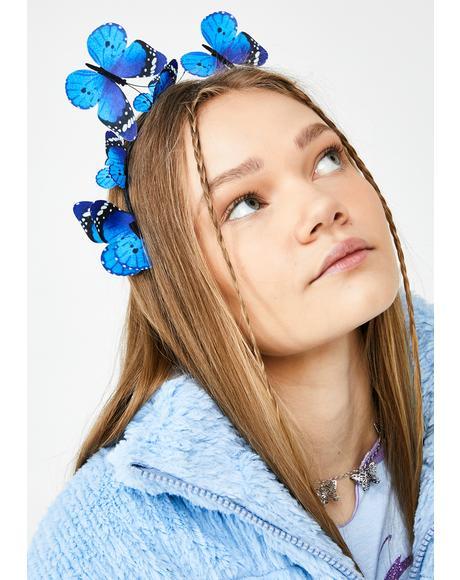 Fluttering Hearts Butterfly Headband