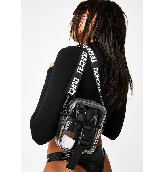 Club Exx All Night Techno Crossbody Bag