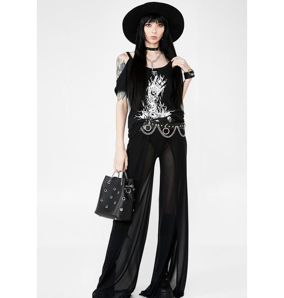 Killstar Hell Distressed Top