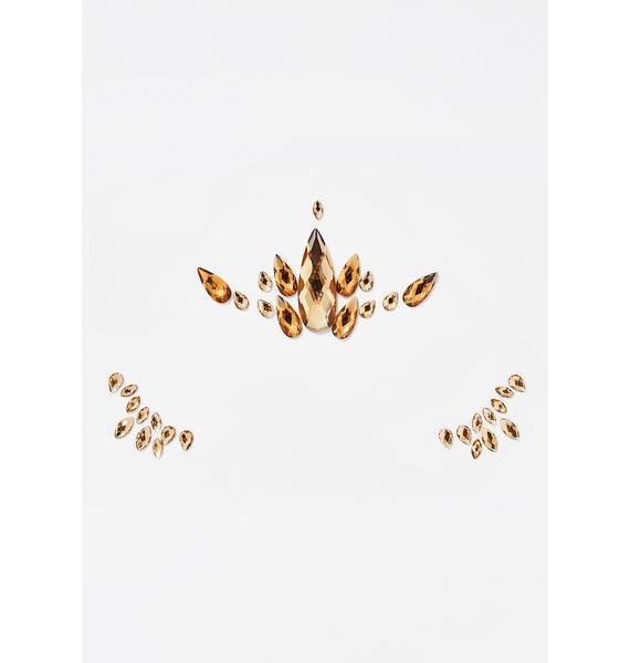 Golden Lightwerker Face Gems