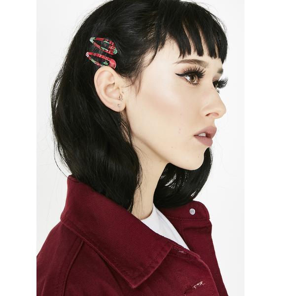 Petty In Plaid Hair Clips