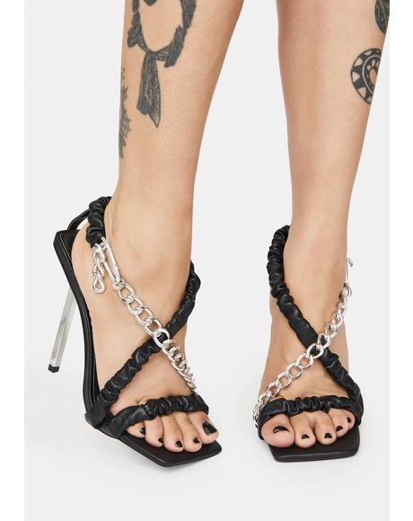 Matrix Chain Strap Stiletto Heels