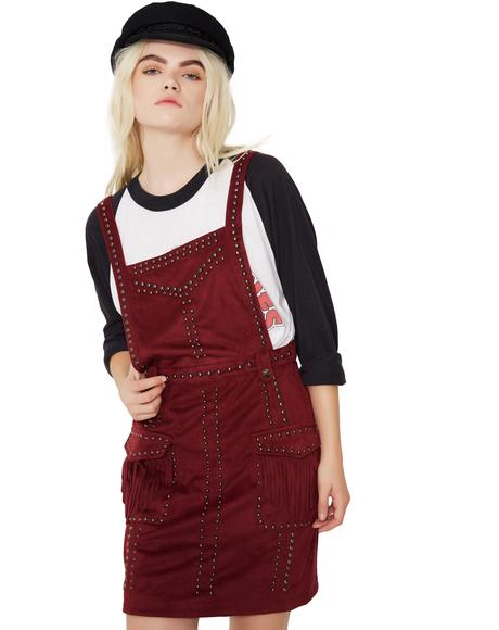 You Wish Studded Pinafore Dress