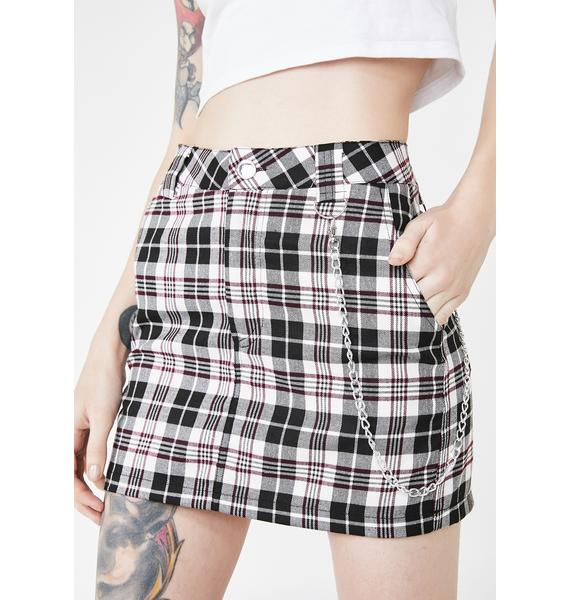 Current Mood Pure Loose Cannon Plaid Skirt