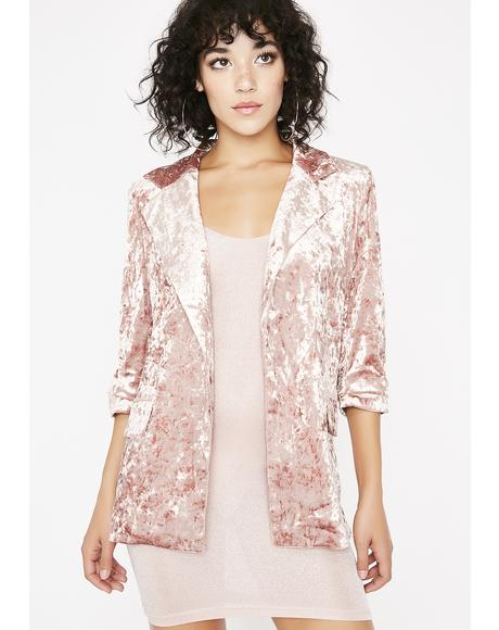 Wishful Thinking Velvet Blazer