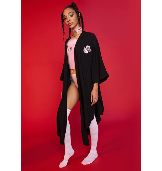 Dolls Kill x Hello Kitty Lil Me Time Embroidered Duster