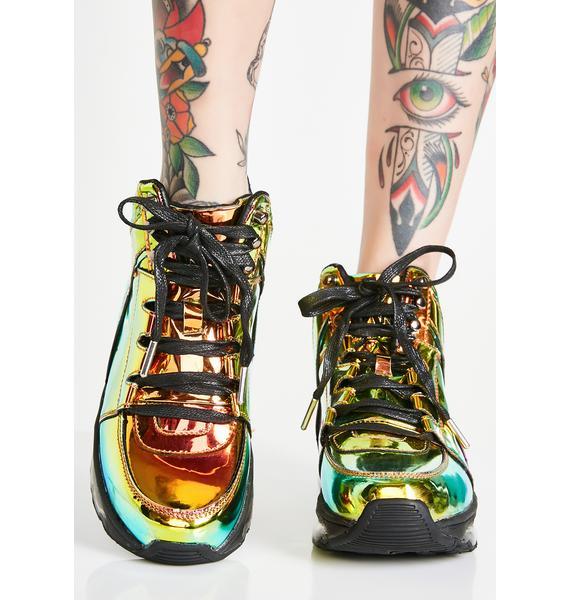 Y.R.U. Qozmo Aiire Green Atlantis Sneakers