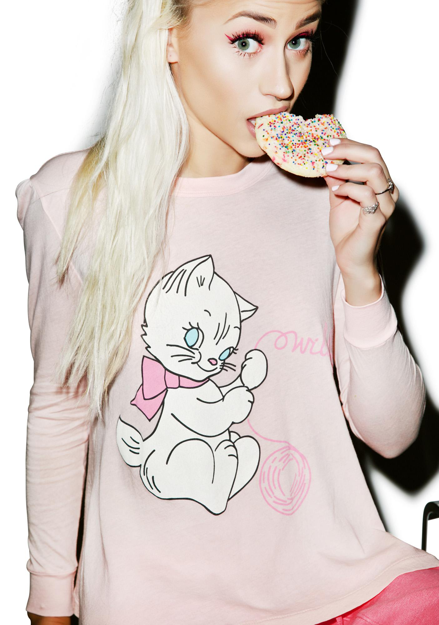 Wildfox Couture Playful Kitty Princess Tee