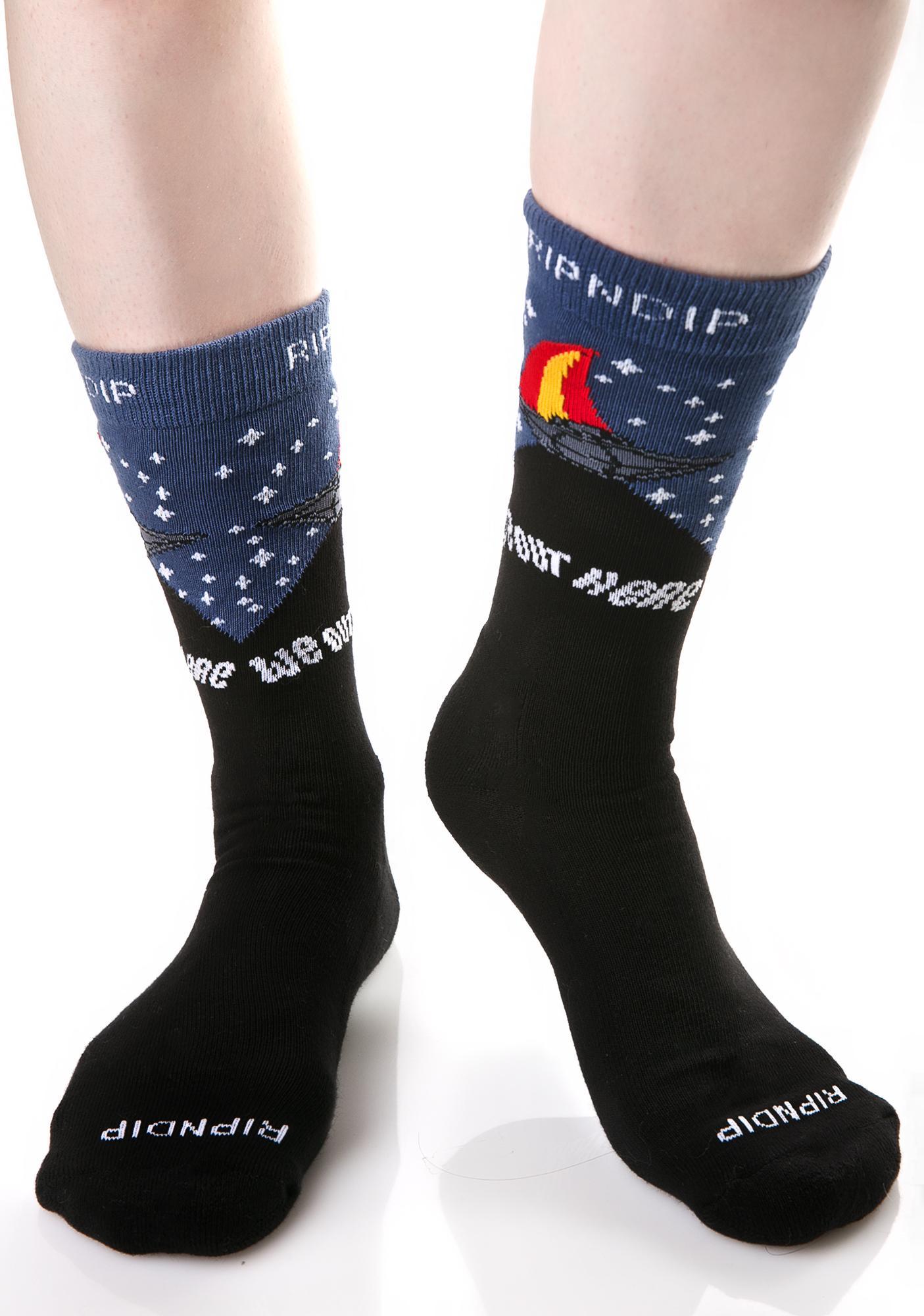 RIPNDIP Spaceship Socks