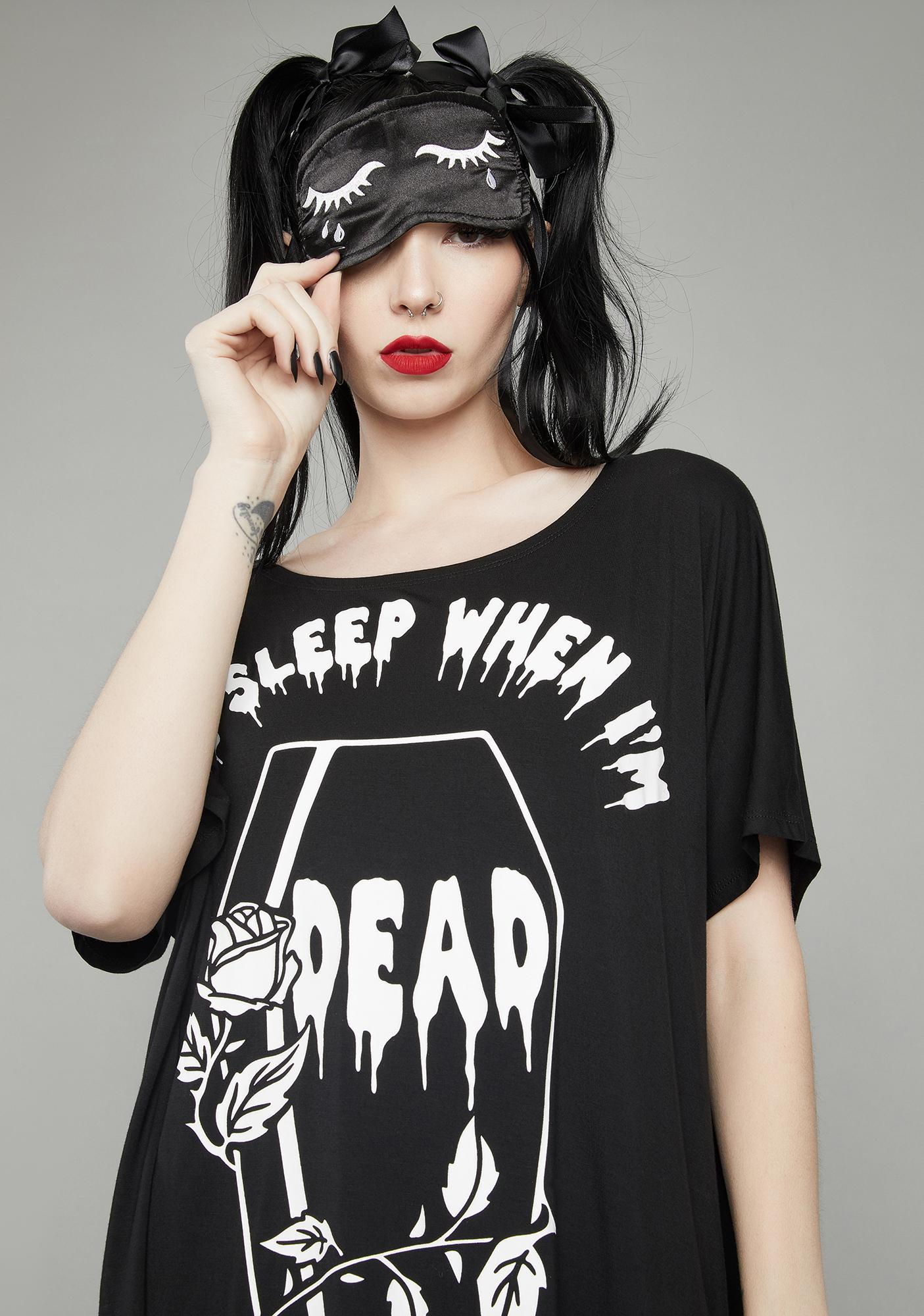 Dolls Kill Dead Asleep Oversized Tee Set