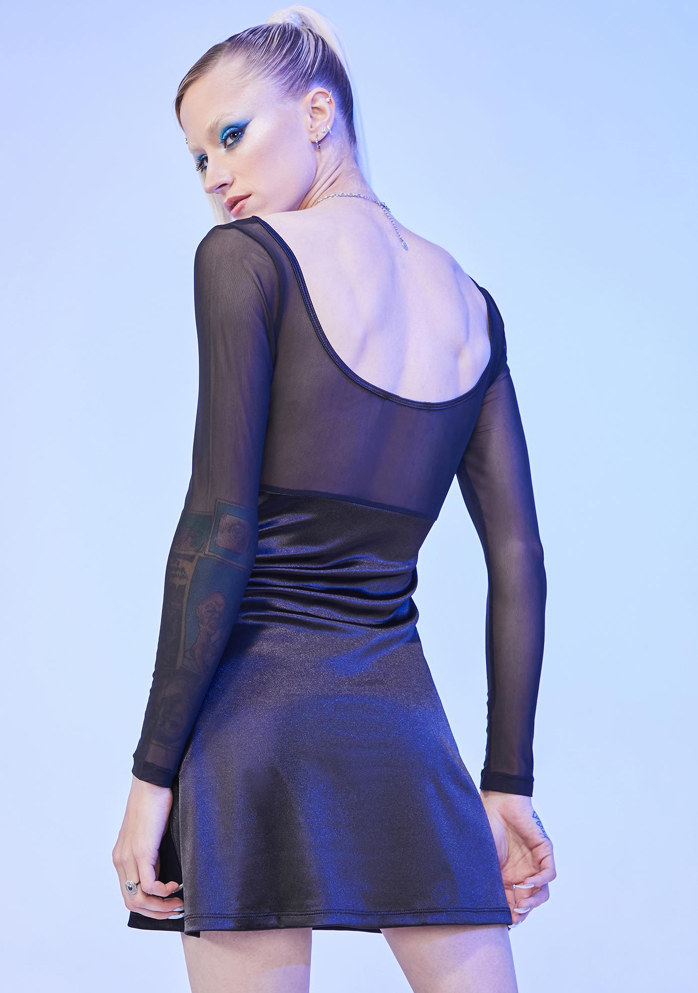HOROSCOPEZ Tossing And Turning Satin Mini Dress