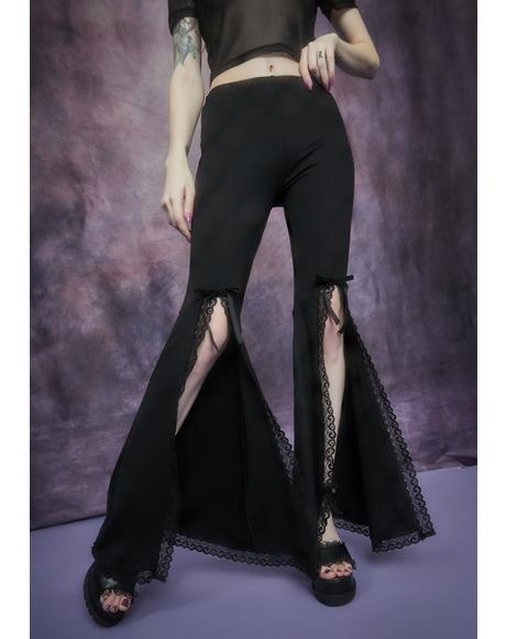 Initiation Into Darkness Front Split Bell Bottoms